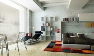 Interior-Karpet-Rumah-Minimalis-di-Kamar-Tidur-4-Karpet-Kotak-Kotak-Colorful-Nuansa-Modern-dan-Futuristik