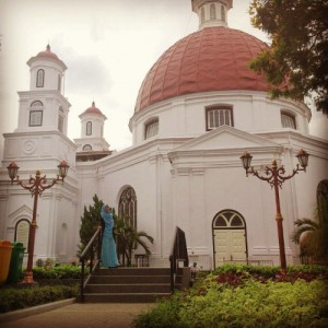 Bangunan Heksagonal, Greja Blenduk, Kota Lama, Semarang, Jawa Tengah Indonesia #heksagonal #hexagon #Gereja #church #blenduk #kotalama #old #town #kota #semarang #indonesia