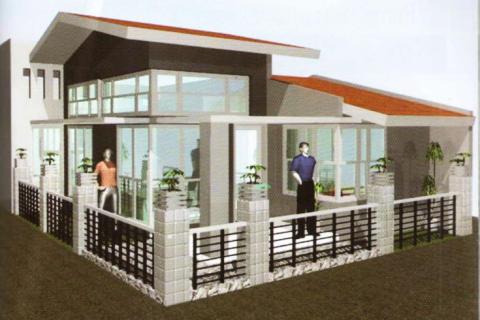Desain Rumah Tropis untuk Pasangan Muda type 60m2
